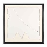 concetto spaziale, teatrini b (white) by lucio fontana
