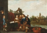 musizierende familie by abraham teniers