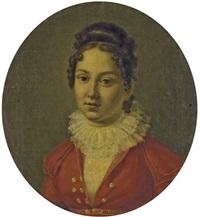 portrait de dame en buste by pietro nocchi