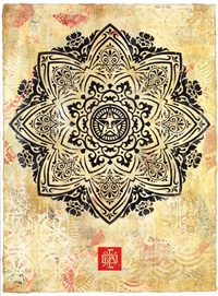 mandala ornament 1 hpm by shepard fairey