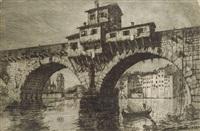 ponte della pietra a verona by e. fagiuoli