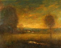 western sunset, innes sunset by william keith