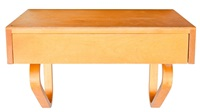 wall shelf with drawer by alvar aalto