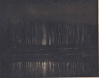 moonlight: the pond by edward steichen