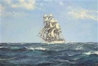 fair sails on a rolling sea by montague dawson
