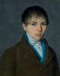 portrait d'un jeune homme en buste by pierre petitot
