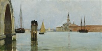 san giorgio maggiore and the campanile seen across the venetian lagoon by theodore wendel
