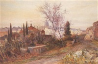 view from the palatine hill, rome by charles earle