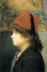 enfant de profil coiffé d'un fez by alberto valenzuela llanos