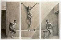 tríptico de cristo (triptych) by aldo bahamonde