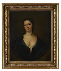 portrait of isabella blair in a blue dress by james fellowes