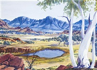 arrernte country by albert namatjira