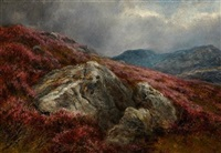 heather on a hillside by james faed