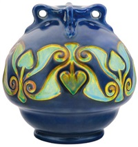 vase with hungarian motifs by sandor apati abt