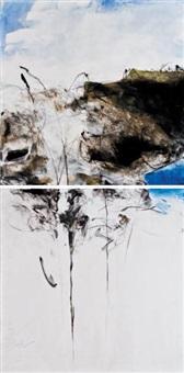 untitled (diptych) by farideh lashai
