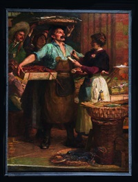 forts et gardeuses aux halles by charles clement denet