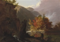 view in kaaterskill clove by thomas cole