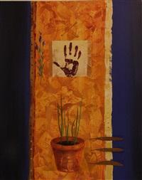 large blue work by anna stitchbury