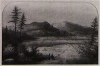 the mountain, montreal from côte st. paul by alfred worsley holdstock