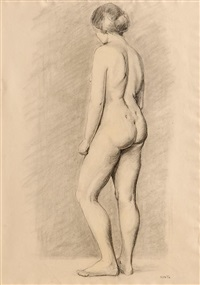 female nude study by renee honta