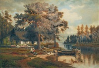 hütte am waldsee by otto rabe
