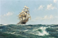 the aberdeen clipper, the star of peace by montague dawson