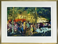 cafe de flore by leroy neiman