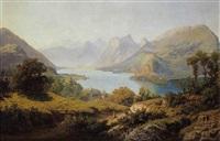 vue du lac d'annecy by paul cabaud