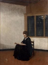 une femme à sa lecture by jacobus vrel