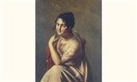 portrait de mademoiselle georges de la comédie française(?) by pauline auzou