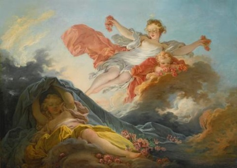 the goddess aurora triumphing over night by jean honoré fragonard