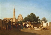 mosquée du sultan hassan - le caire by charles théodore (frère bey) frère