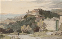 fiesole and the hills of tuscany, evening by leonard russel squirrell