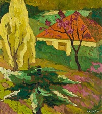 untitled - the cottage in spring by robert nettleton field