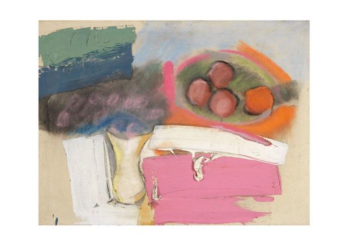 still life (apples & oranges) by michael goldberg