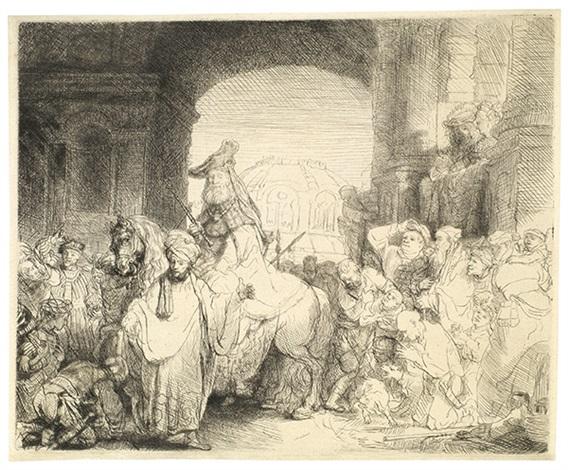 der triumph des mardochäus by rembrandt van rijn