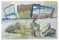 paesaggio con figura by mario sironi