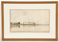 on the seine, looking west by robert weir allan