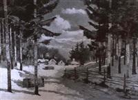 winter woodland scene by albert f. jacobson