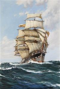 the lofty clipper, clan macfarlane by montague dawson