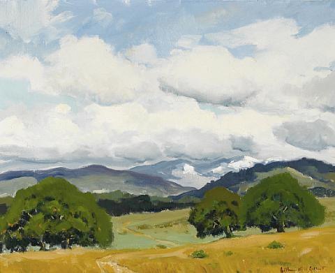 clouds over toro by arthur hill gilbert