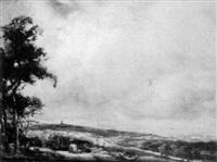 over the weald, near sevenoaks by thomas william morley
