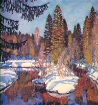 riviere en hiver by nikolai galakhov
