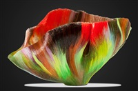 boundless serena contemporary art glass bowl by toots zynsky