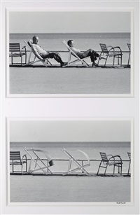 cannes (diptych) by elliott erwitt