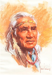 chief dan george, salish by harley brown