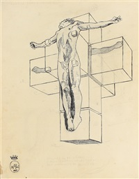 2 studies for corpus hypercubicus by salvador dalí