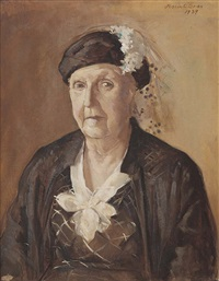 untitled (portrait of mrs hodgson) by justin maurice o'brien