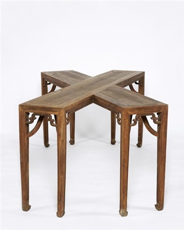 crossed tables by ai weiwei