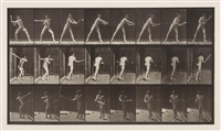baseball, batting, plate 277 (from animal locomotion) by eadweard muybridge